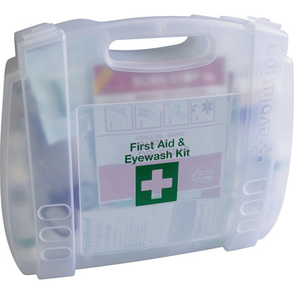 Evolution BS 8599 Compliant First Aid & Eyewash Kit Small