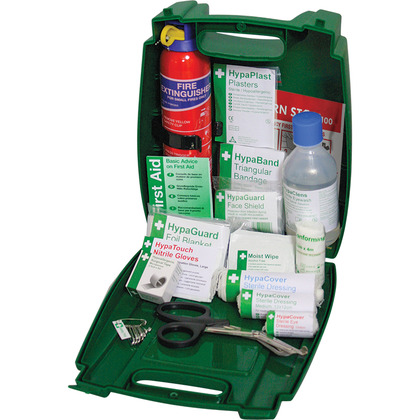 Evolution BS 8599 Compliant Travel First Aid & Fire Extinguisher Kit