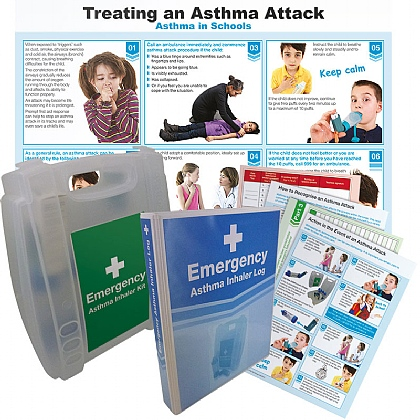 Emergency Asthma Pack with 5 Reusable Spacers