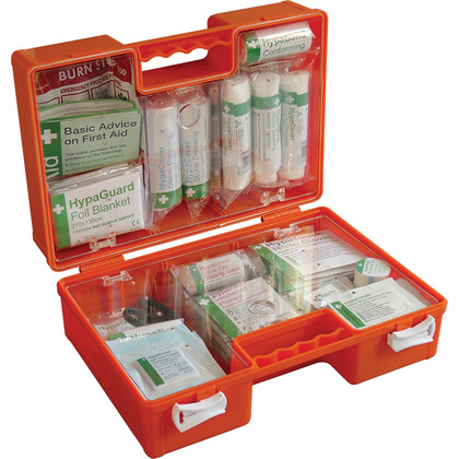 BS 8599 Compliant Deluxe Workplace First Aid Kit Orange Case, Medium