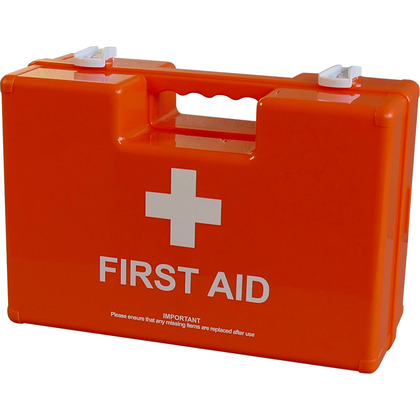 BS 8599 Compliant Deluxe Workplace First Aid Kit Orange Case, Small