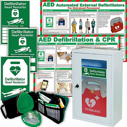 Schiller FRED PA-1 AED Automatic Bundle with Wall Cabinet