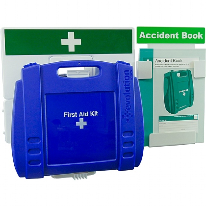 Catering First Aid & Accident Reporting Point (Blue Case, Large)