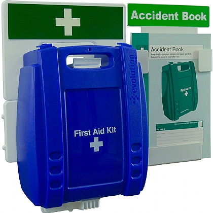 Catering First Aid & Accident Reporting Point (Blue Case, Small)