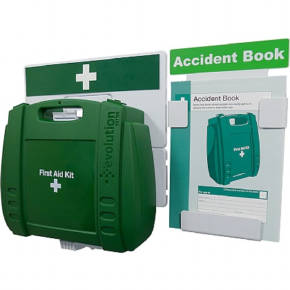 Catering First Aid & Accident Reporting Point (Green Case, Large)