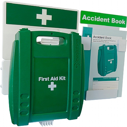 Catering First Aid & Accident Reporting Point (Green Case, Medium)