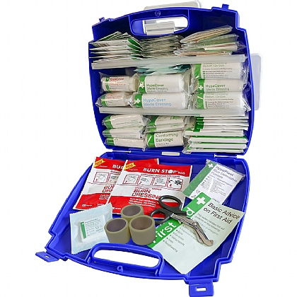 Blue Evolution Plus Catering BS 8599 Compliant First Aid Kit, Large