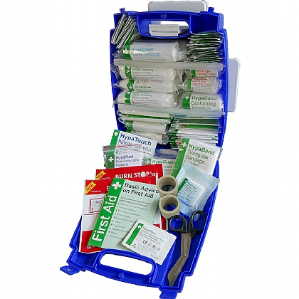 Blue Evolution Plus Catering BS 8599 Compliant First Aid Kit, Medium
