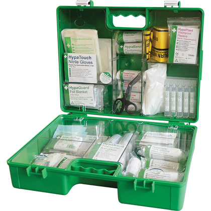 BS 8599 Compliant Industrial High-Risk First Aid Kit, Green Case, Medium