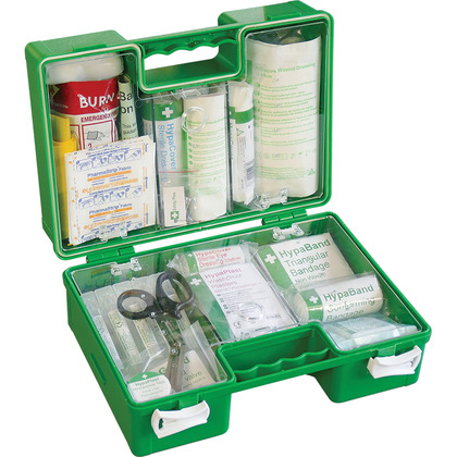 BS 8599 Compliant Industrial High-Risk First Aid Kit, Green Case, Small