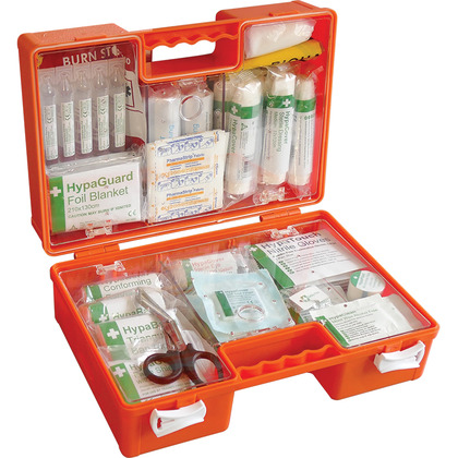 BS 8599 Compliant Industrial High-Risk First Aid Kit, Orange Case, Medium
