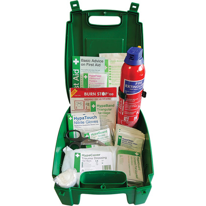Car and Taxi First Aid Kit with Fire Extinguisher