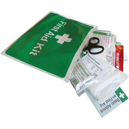 BS 8599-2 Car and Taxi First Aid Kit in Vinyl Wallet