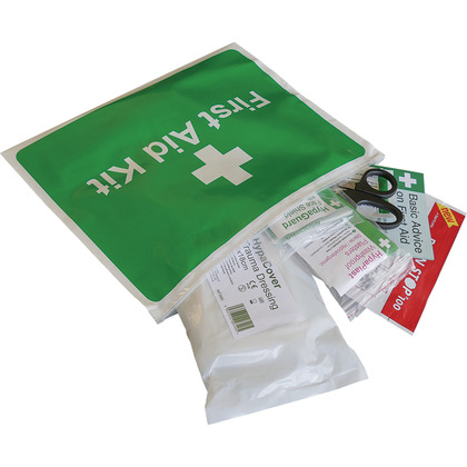 BS8599-2 Motorcycle First Aid Kit in Vinyl Wallet