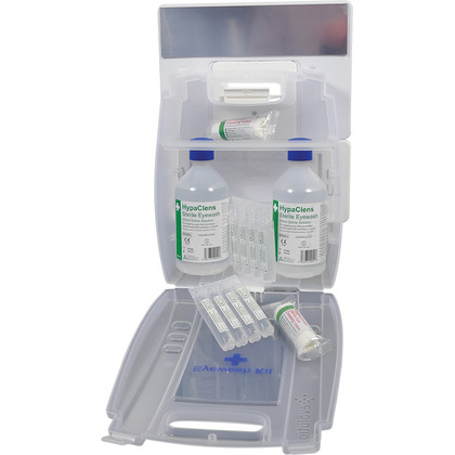 Evolution Plus 2x500ml Eyewash Kit with 8 Eyewash Pods with Mirror