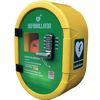 DefibSafe Outdoor Defib Cabinet with Keypad Lock