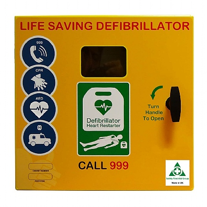 HypaGuard Outdoor Heated AED Cabinet, Unlocked