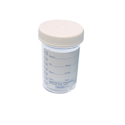 Specimen Pot, 100ml (Screw Top Cover)