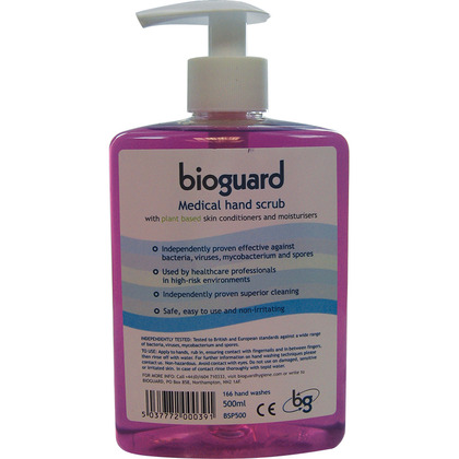 Bioguard Medical Hand Scrub Pump Dispenser, 500ml