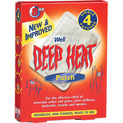 Deep Heat Patches (Pack of 4)