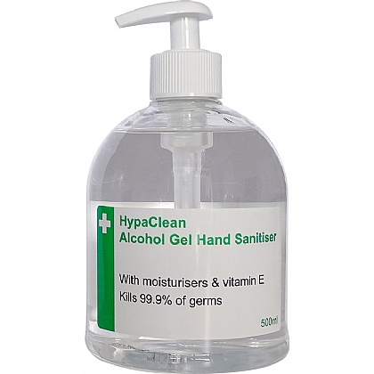 HypaClean Alcohol Hand Gel Pump Dispenser, 500ml