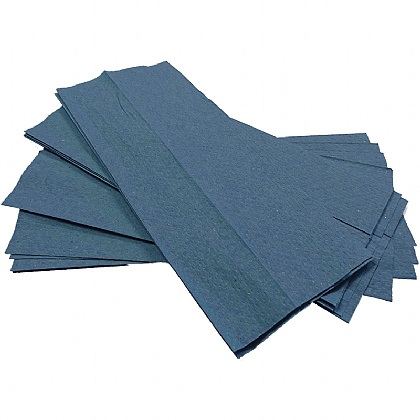 'C' Fold Hand Towels, blue