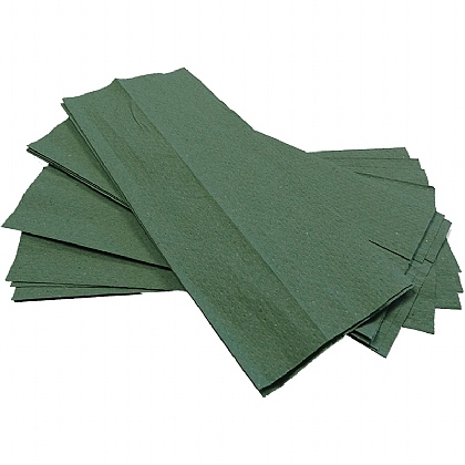 'C' Fold Hand Towels, green