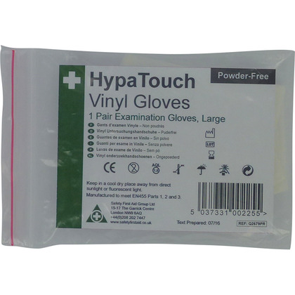 HypaTouch Vinyl Gloves, 6 pairs