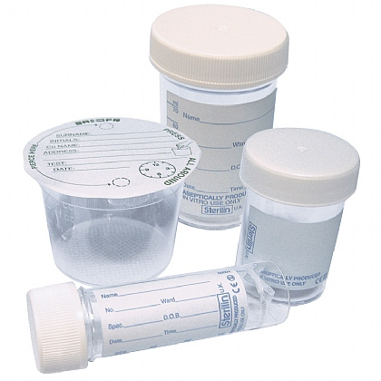 Specimen Pot, 100ml (Adhesive Label Cover)