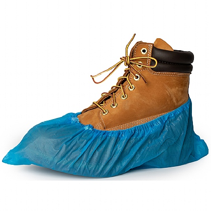 Disposable Overshoes, Blue (Pack of 100)