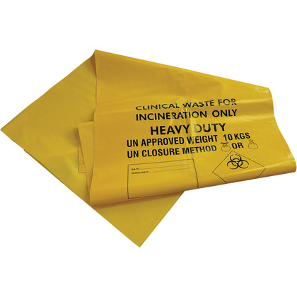 Clinical Waste Sacks, Max 10kg (25) - 71cm x 99cm