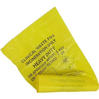 Biohazard Bin Liner (Roll of 25) - 43cm x 66cm