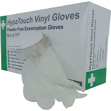 HypaTouch Powder-Free Vinyl Gloves (Case of 10)