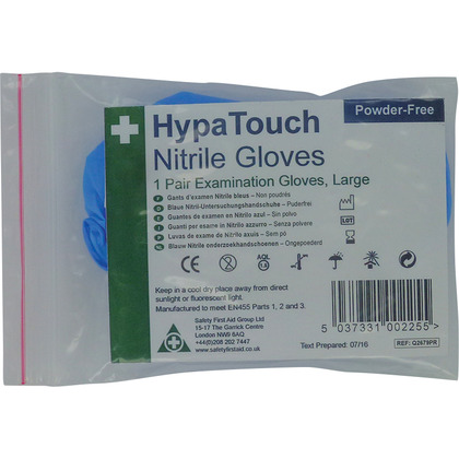 HypaTouch Powder-Free Nitrile Gloves, Large x 6 Pairs