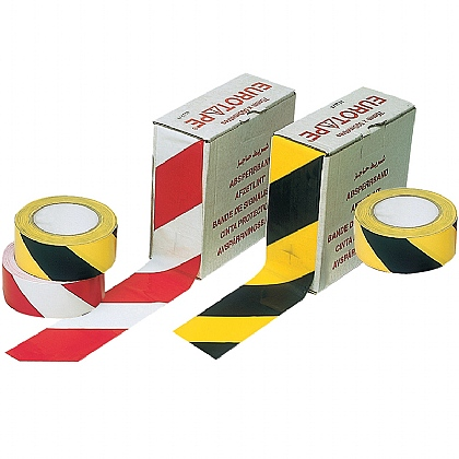 Barrier Tapes, Black/Yellow