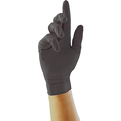 Black Nitrile Gloves (Box of 100)