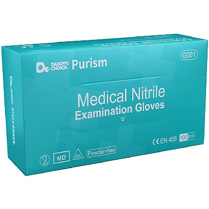 Purism Powder-Free Nitrile Gloves, Box of 100