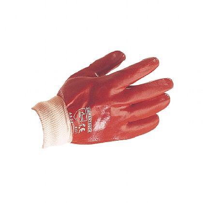 PVC Knitted Wrist Gloves, Ex Large