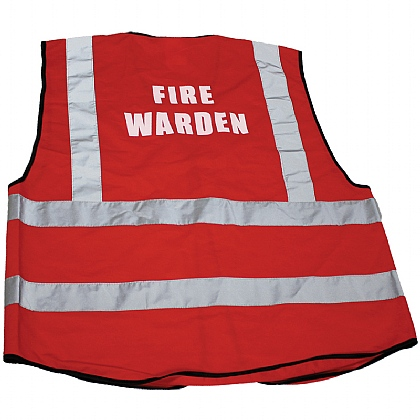 Red Fire Warden Waistcoat - Extra Large