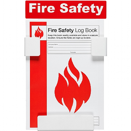 Fire Safety Log Book with Holder