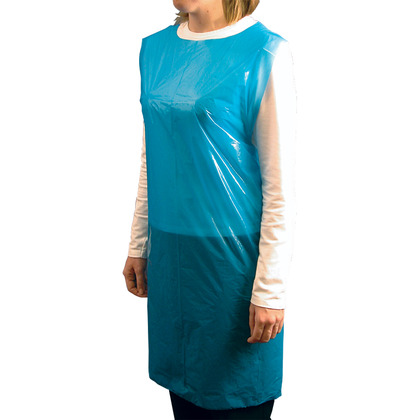 Blue Polythene Aprons on a Roll (Pack of 200)