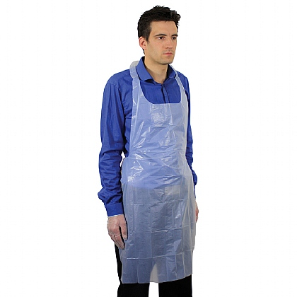 Blue Polythene Aprons (69cm x 107cm) - Pack of 100