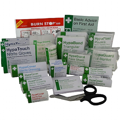 BS 8599 Compliant Catering First Aid Kit Refill, Medium