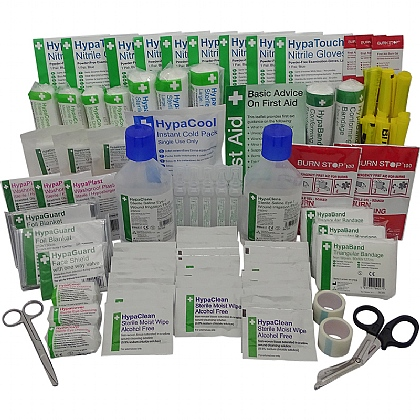 BS 8599 Compliant Comprehensive First Aid Kit Refill Pack