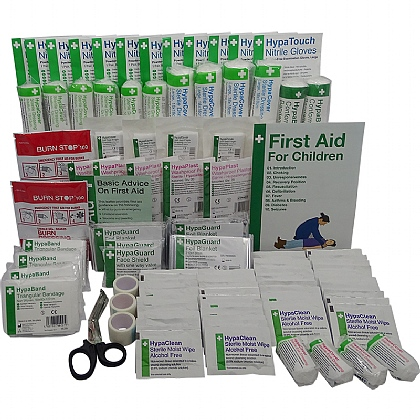 BS 8599 Compliant School First Aid Cabinet Refill