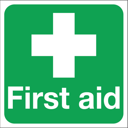 First Aid Sign, Vinyl 15x15cm