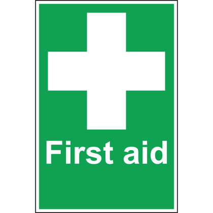 First Aid Sign, Self Adhesive, 20x30cm