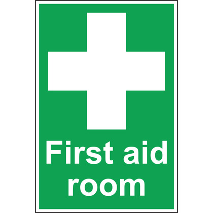 First Aid Room Sign, Vinyl 20x30cm