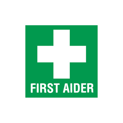 50 x 50 First Aider Helmet Sticker Self Adhesive