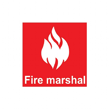50 x 50 Fire Marshal Self Adhesive Sticker